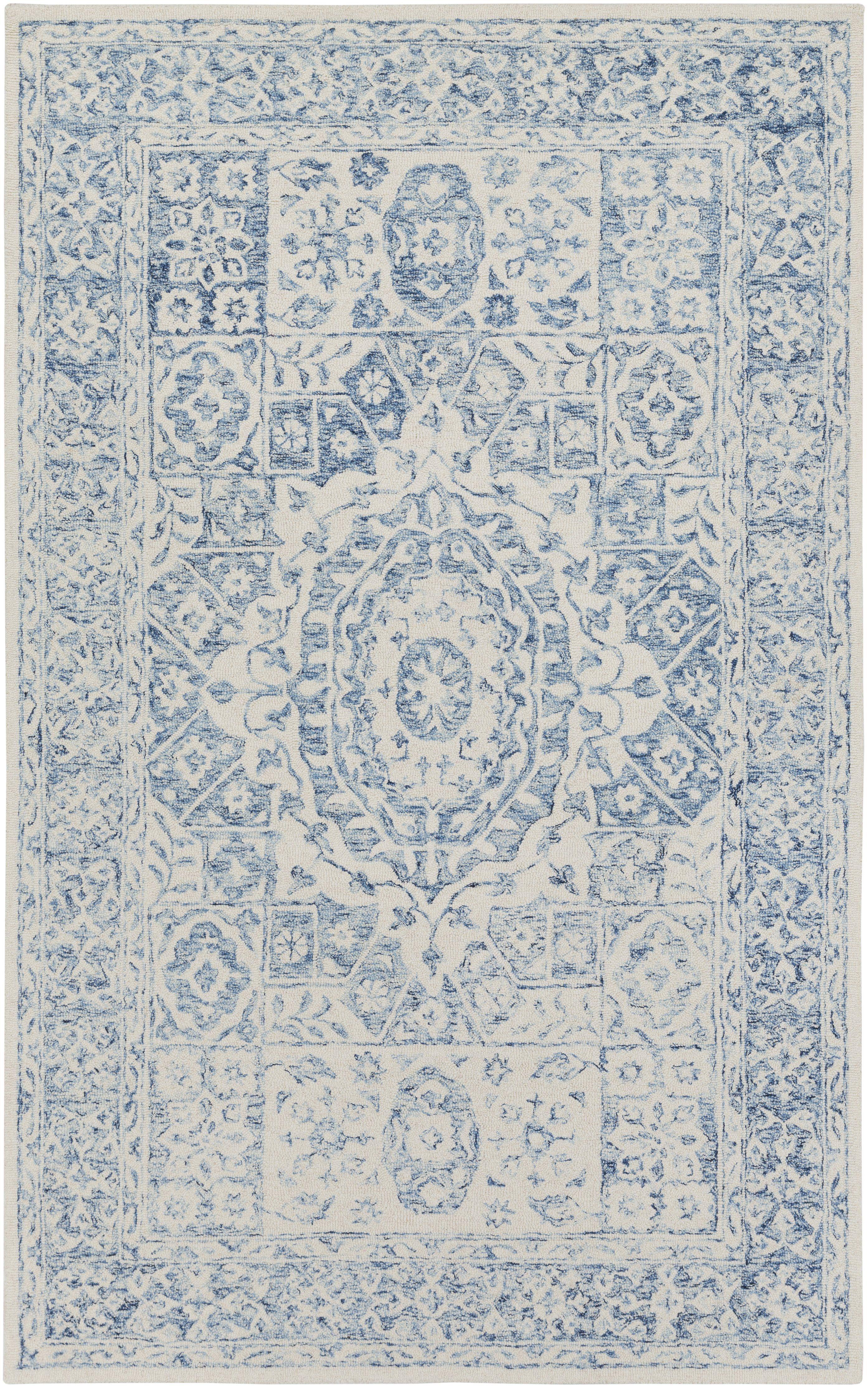 Surya serafina srf pale bluewhite area rug dream home decor