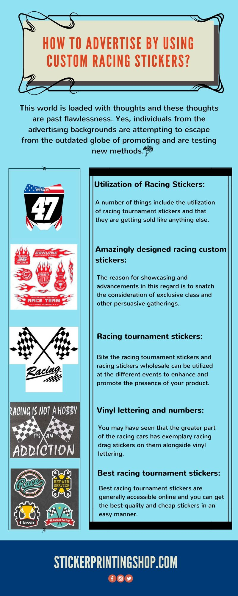 Bike stickers racing stickers custom stickers drag racing custom bikes advertising