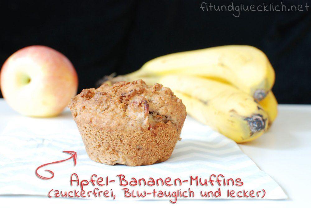 Clean Eating Blw Bananen Apfel Muffins Banana Apple Muffins
