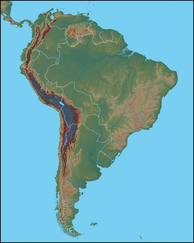 Andes Mountains map. How old are the Andes Mointains? | el ...