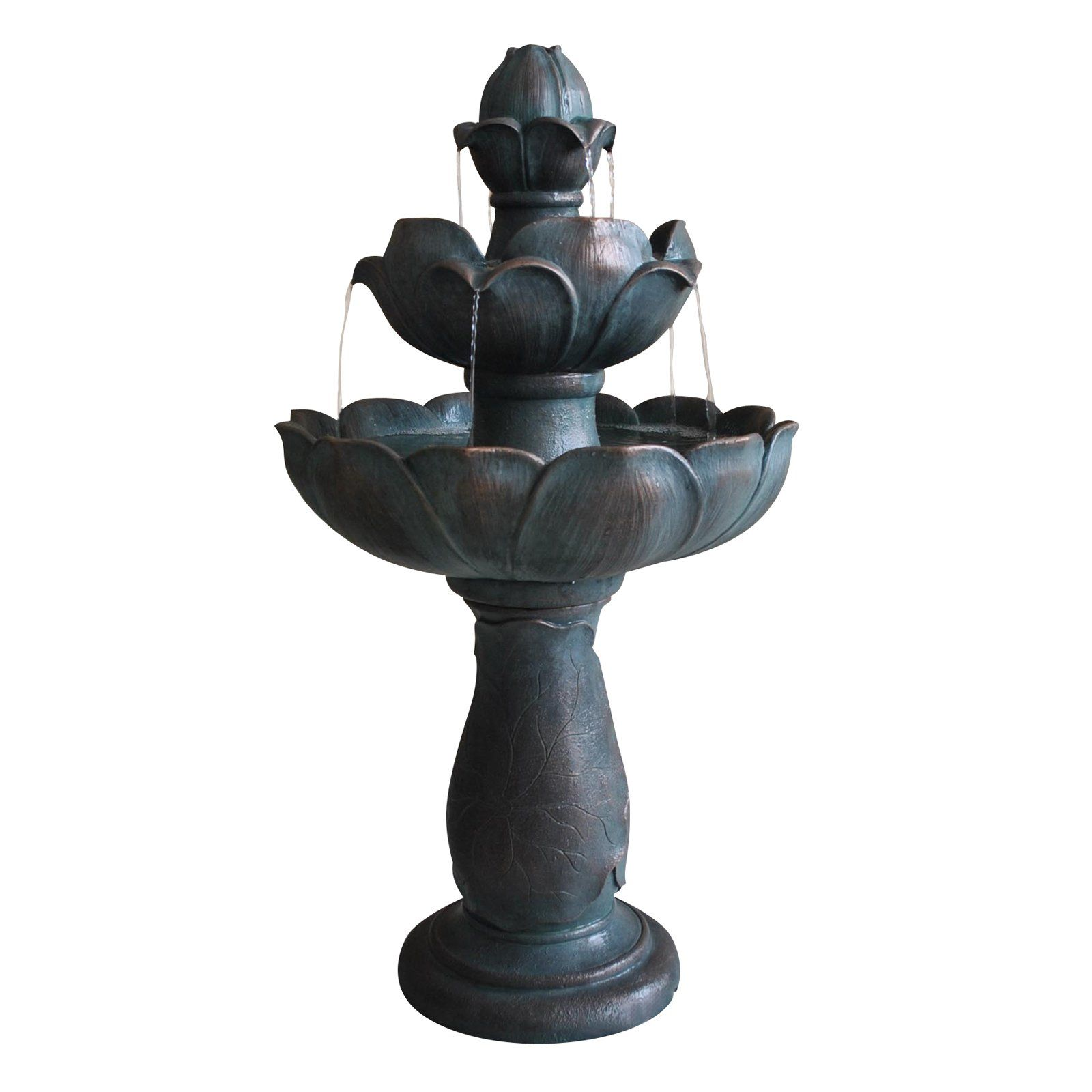 3 Tier Lotus Fountain | www.simplyfountains.com | Ideas for the home ...
