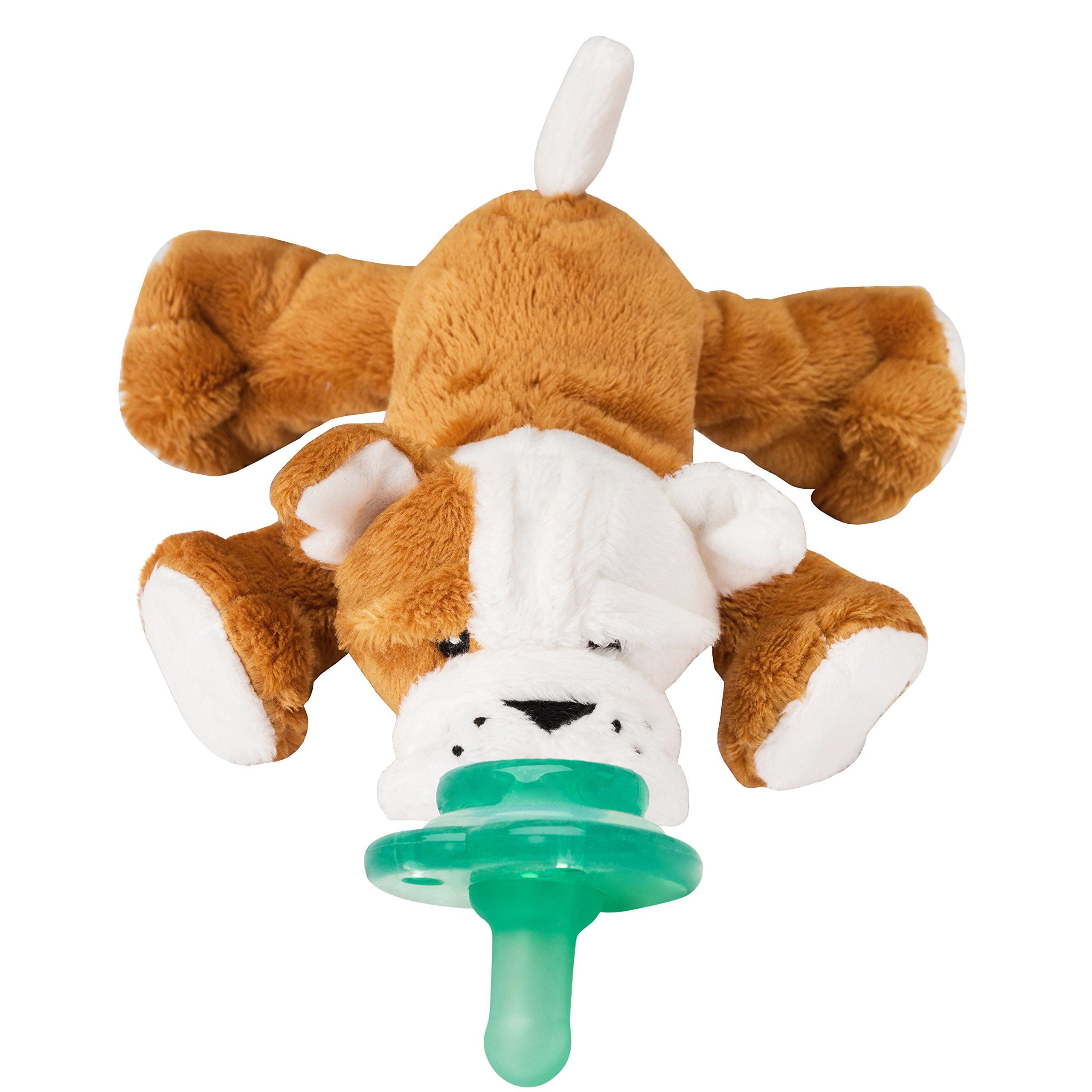 Nookums Paciplushies Bull Dog Shakies Pacifier Holder And Rattle 2