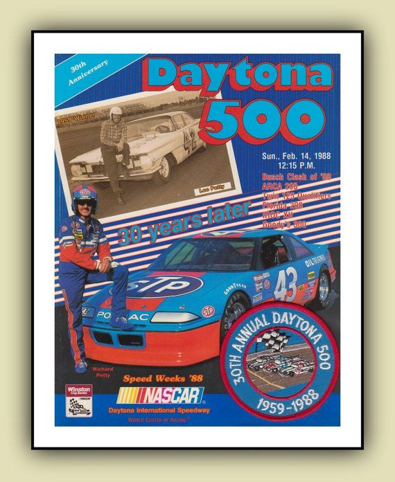Richard Petty Nascar Daytona 500 1988 Poster by