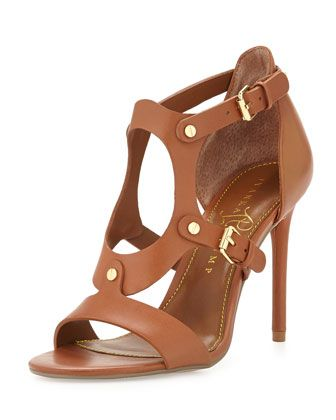 Marid Studded Oval Strappy Sandal, Saddle by Ivanka Trump at Neiman Marcus Last  Call.