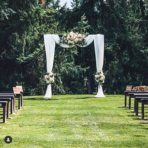 Wedding Arch Chiffon Panels, Canopy Draping, Chuppah Drapes #dustyrosewedding