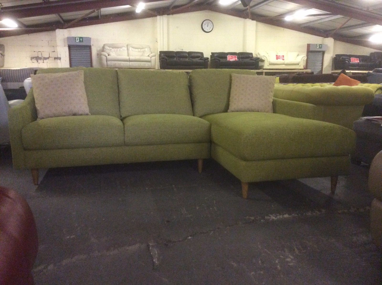 John Lewis Contemporary Lime Green Chaise Contemporary Lounge Sofa Green