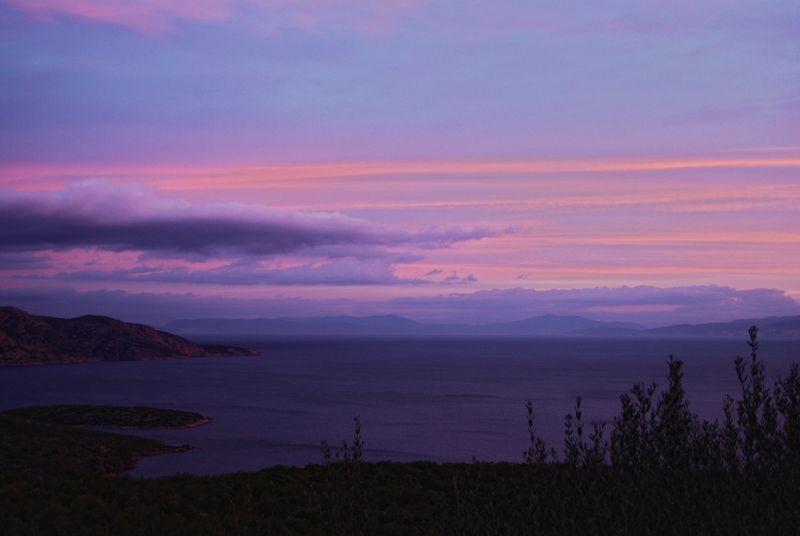 samos sunset and turkish coast photo taken by Alex Korakis