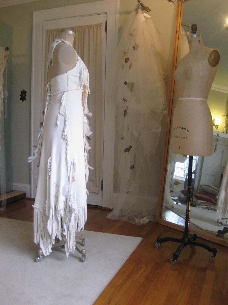 White Leather Wedding Dress Native American Inspired Boho Etsy In 2021 Leather Wedding Dress Leather Wedding Western Wedding Dresses [ 1059 x 794 Pixel ]