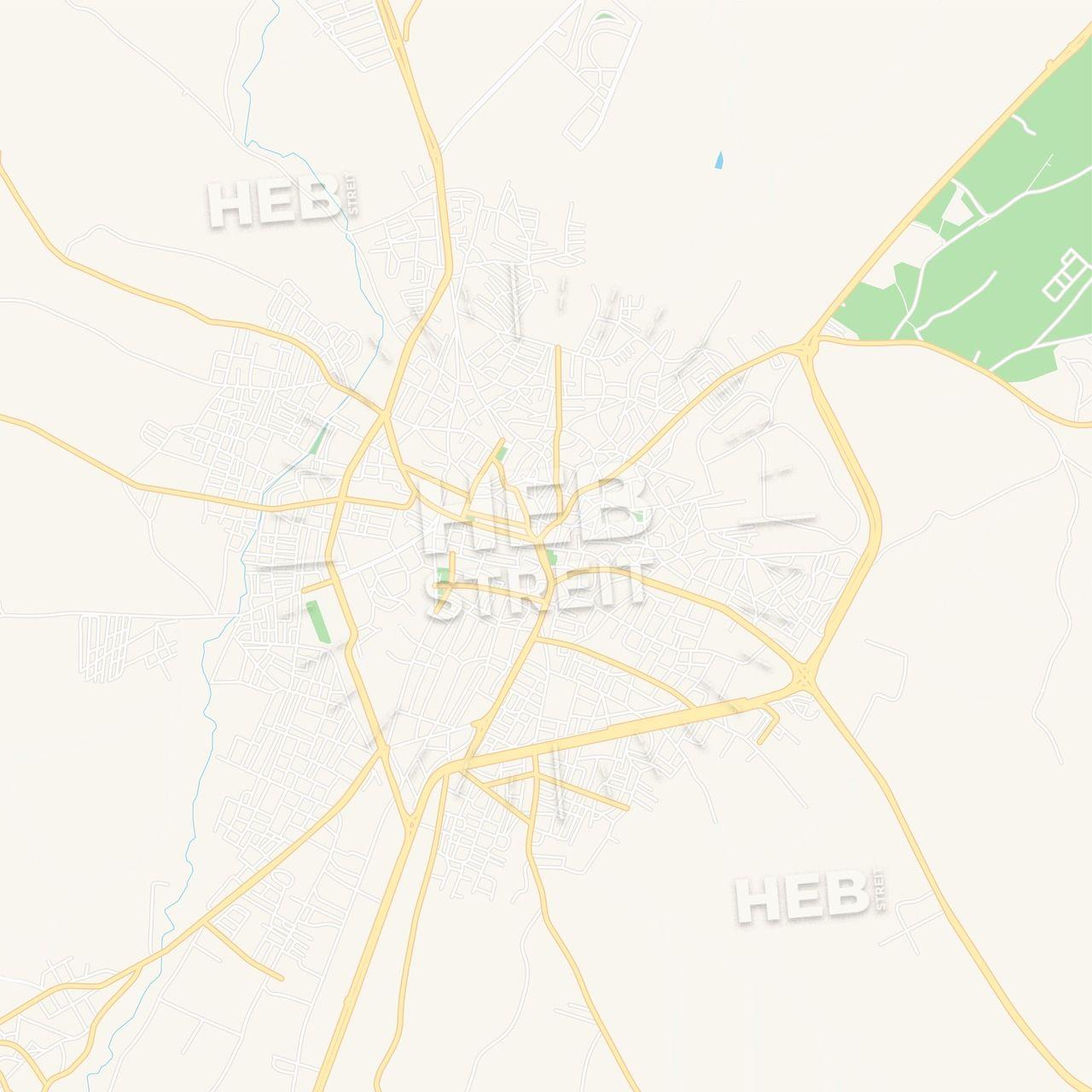 Kirklareli, Turkey Vector Map - Classic Colors   Maps Vector ...