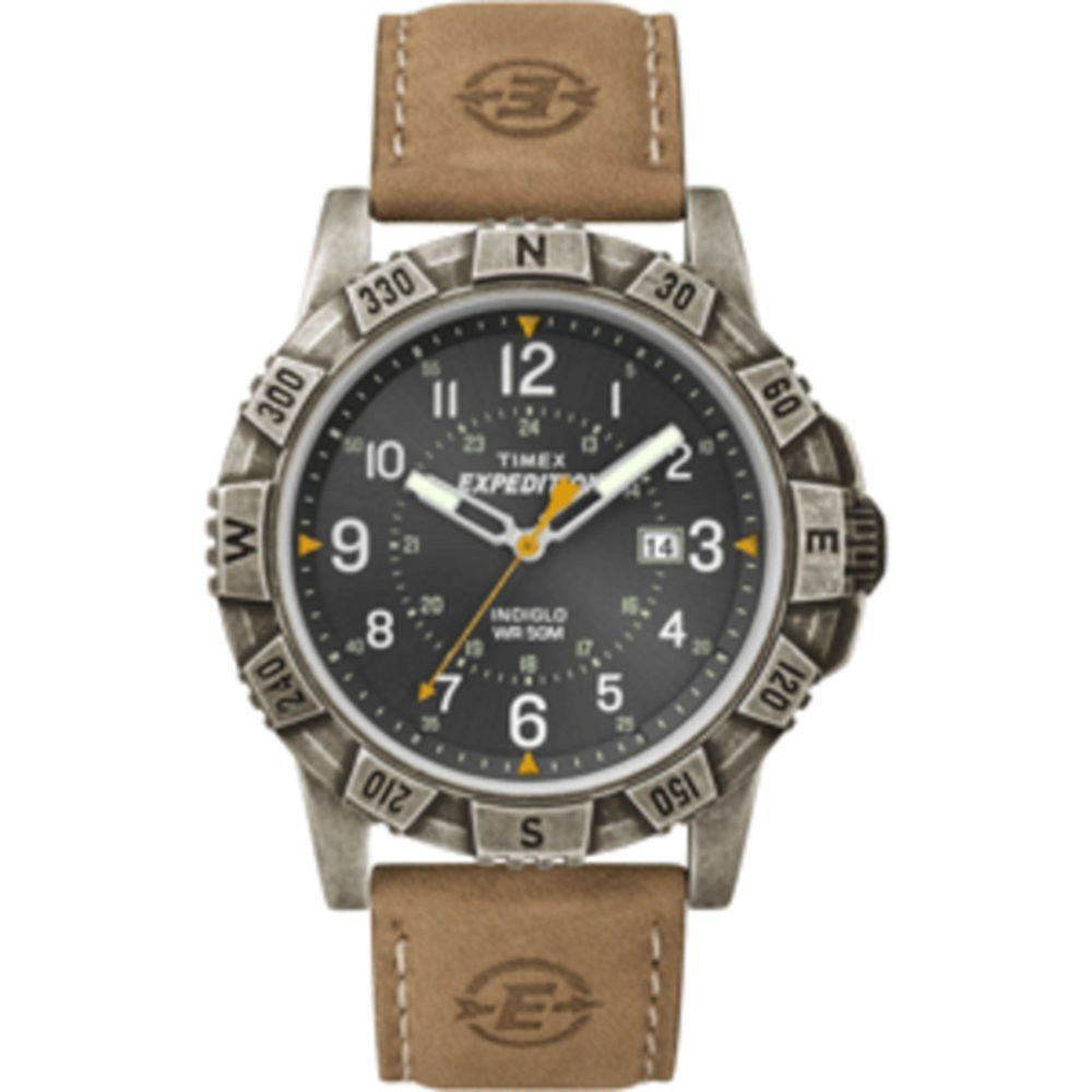 Timex Expedition Rugged Metal Field Watch - Black/Tan