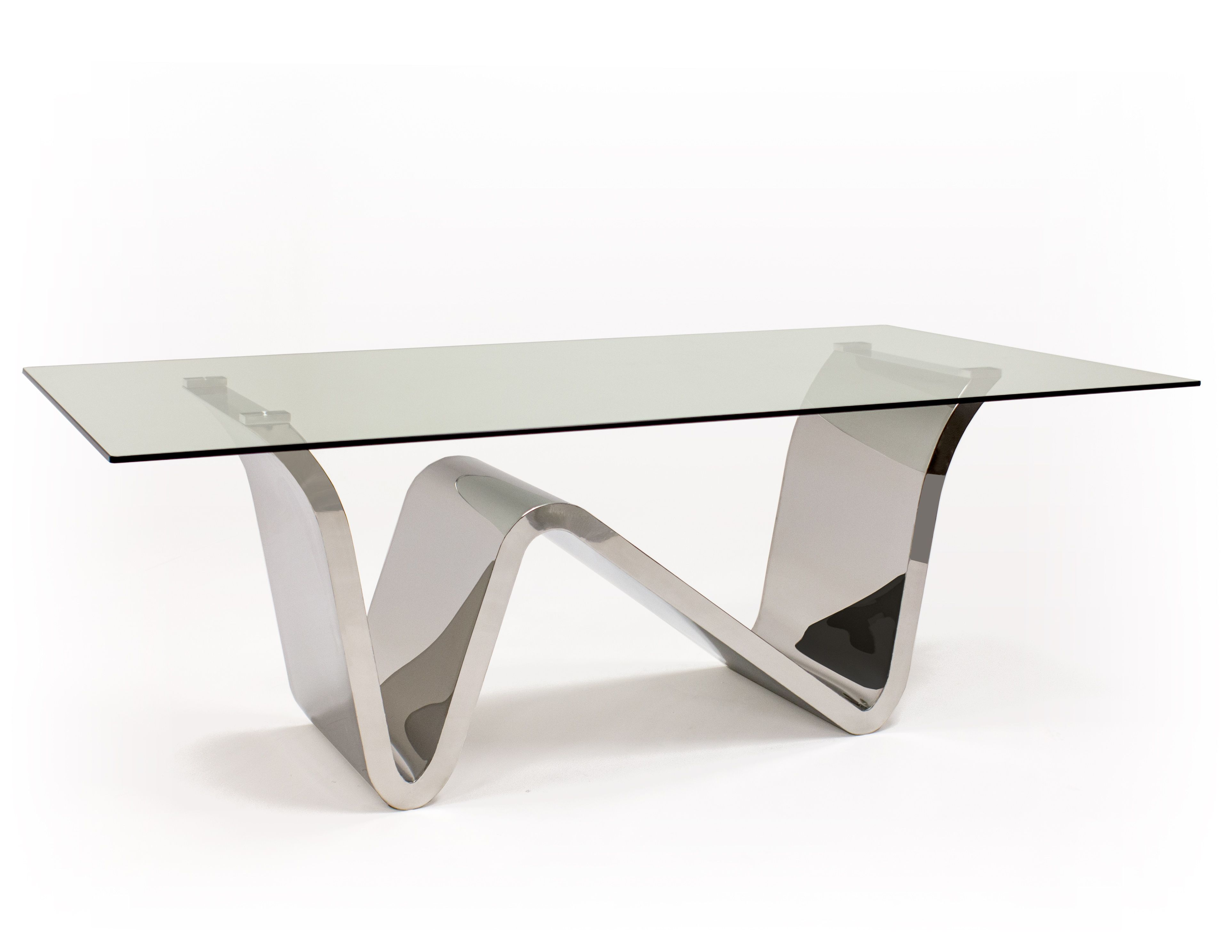 Waverly Dining Table Truly Unique Modern Glass Table With Metal