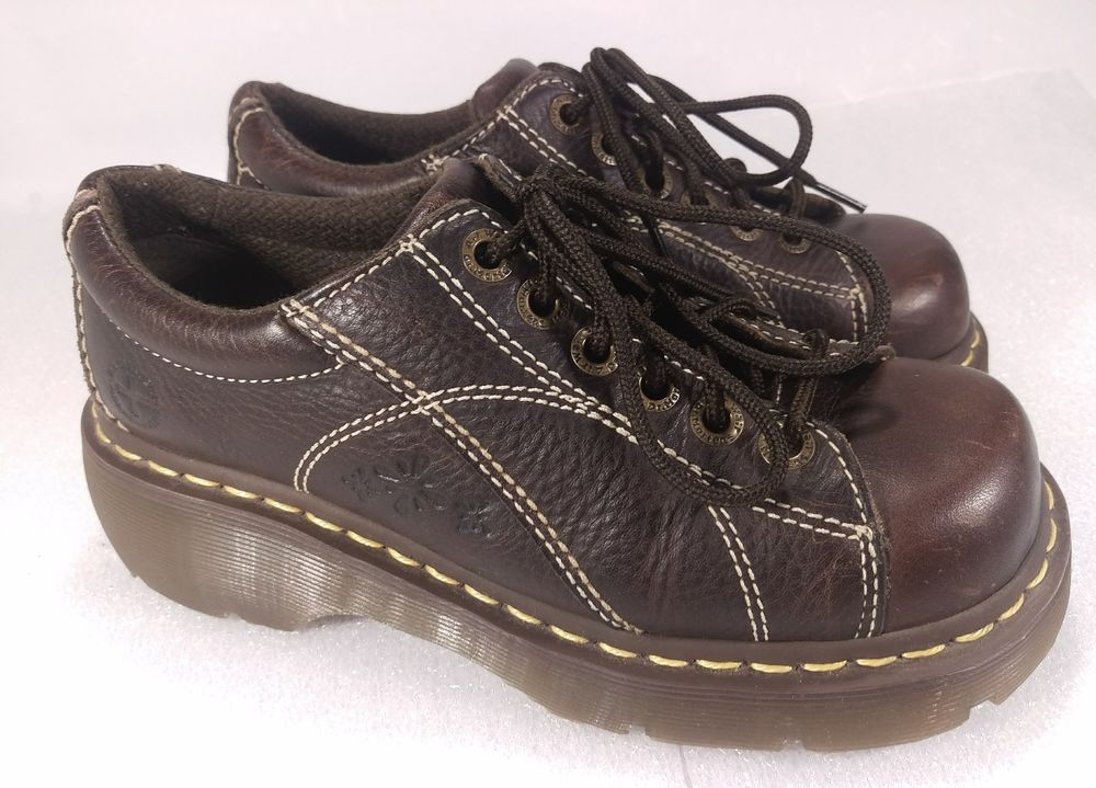 Doc Martens Size 7 Brown Stamped Floral Lace Up Oxford 122283  DrMartens   Oxfords  Casual 7b80ce348