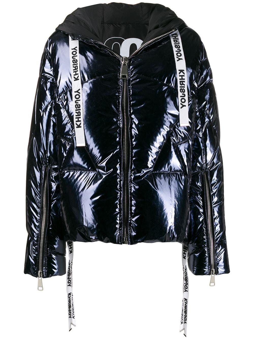 Khrisjoy Metallic Puffer Jacket Farfetch In 2020 Black Girl Fashion Chinese Fashion Street Black Puffer Jacket [ 1334 x 1000 Pixel ]