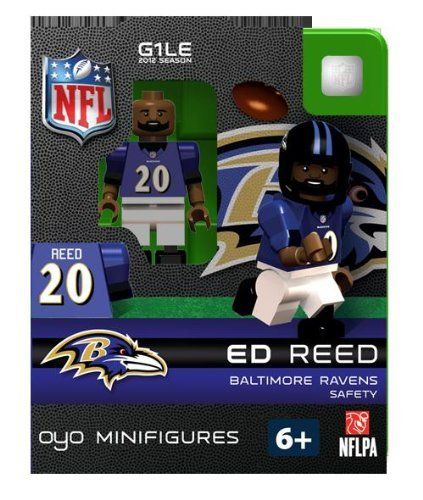 Ed Reed NFL Oyo Mini Figure Lego Compatible Baltimore Ravens by OYO ...