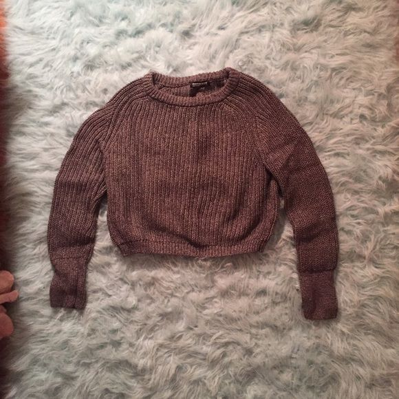American Apparel Cropped Fishermans Sweater Marled grey, size medium. EXCELLENT condition, worn only once. American Apparel Sweaters