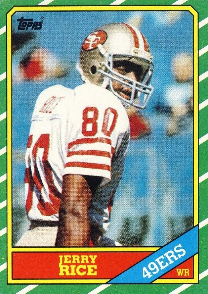 80 jerry rice wr topps football cards football cards