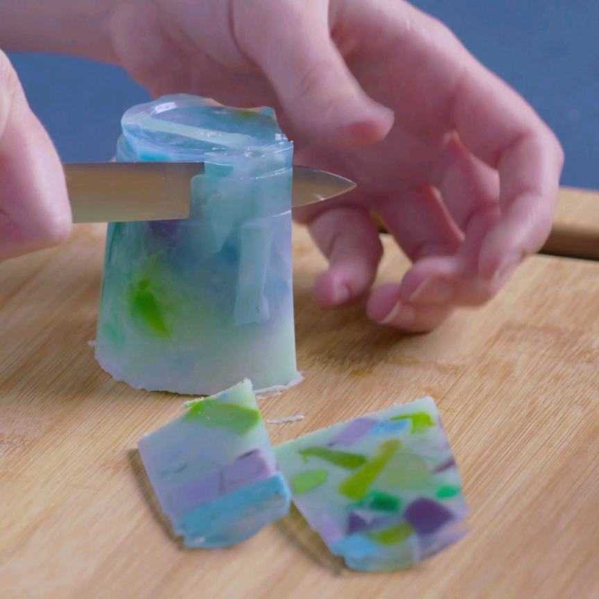 Learn how to make diy gemstone soaps diy pinterest for How to make simple crafts at home