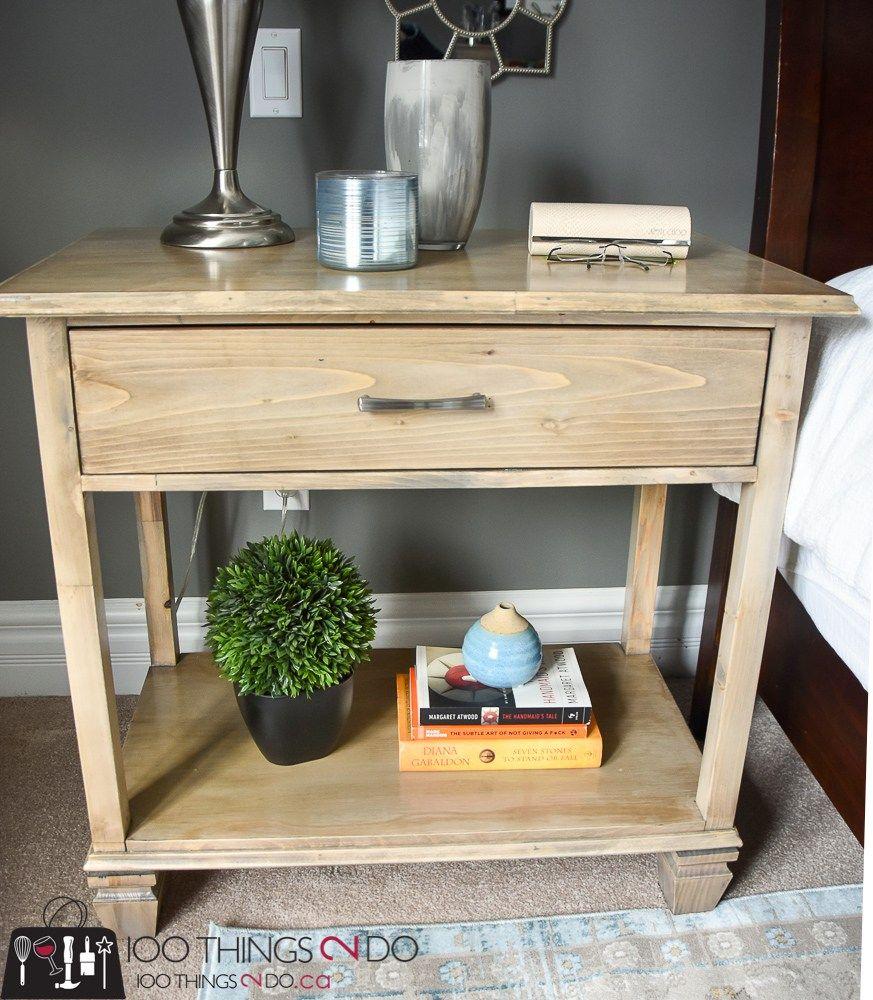 DIY Nightstand Diy nightstand, Pottery barn furniture