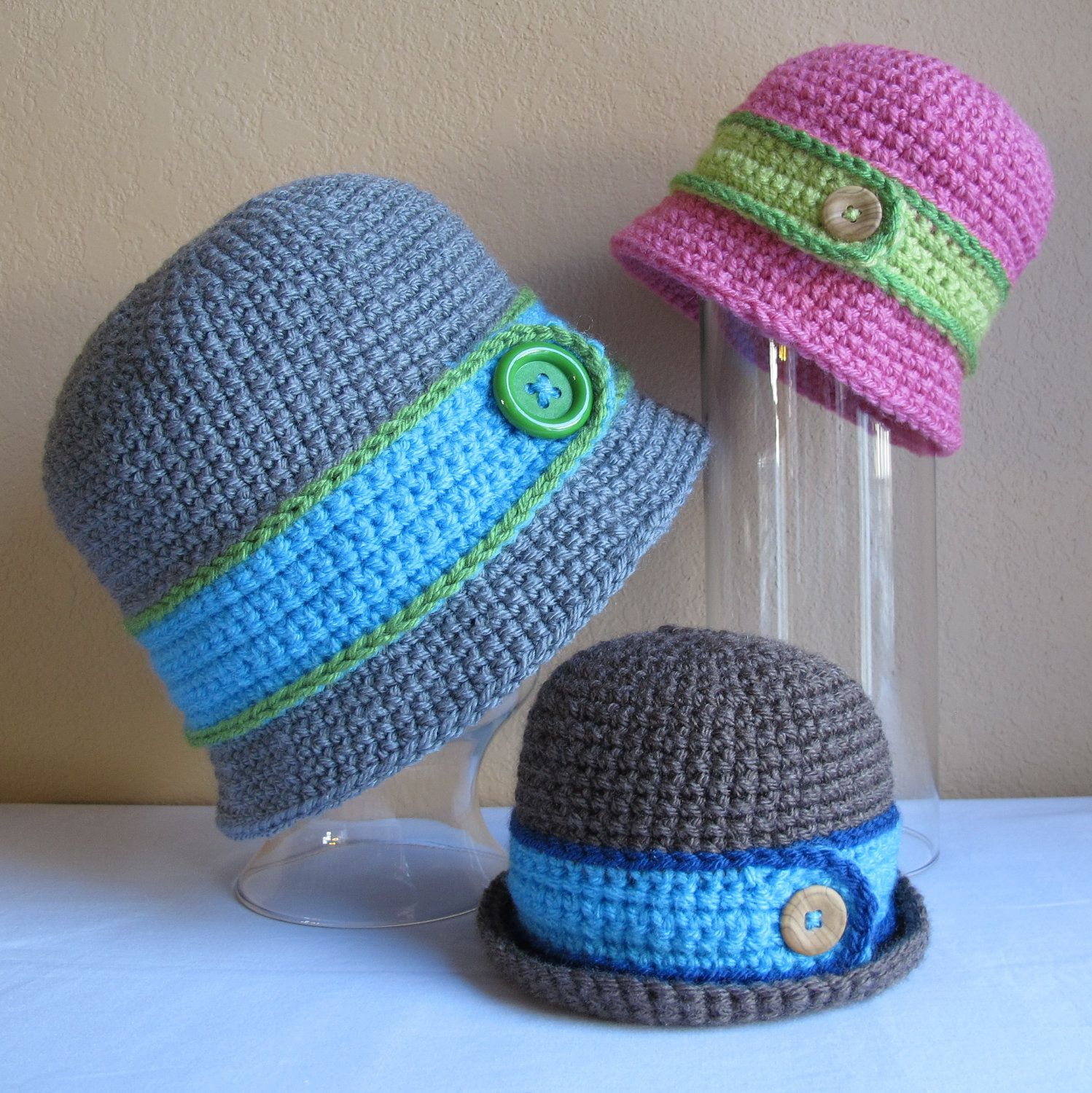 3a7183652ef PATTERN - Downtown Boy - a beanie bucket hat with button in 8 sizes (Infant  - Adult L).  5.50