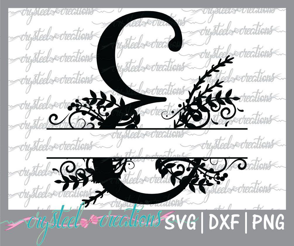 Letter E Split Monogram Svg Png Dxf Regal Split Alphabet Vector Files For Silhouette Silhouette Studio Ready To Cu Lettering Monogram Svg Monogram Fonts