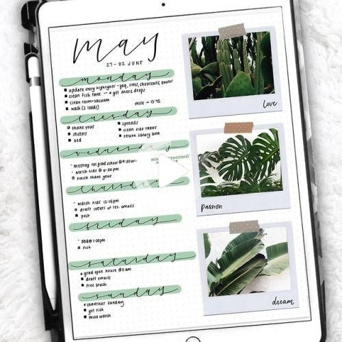 Ipad Notes Discover Pin on Bullet Journal #bulletjournalcalendar