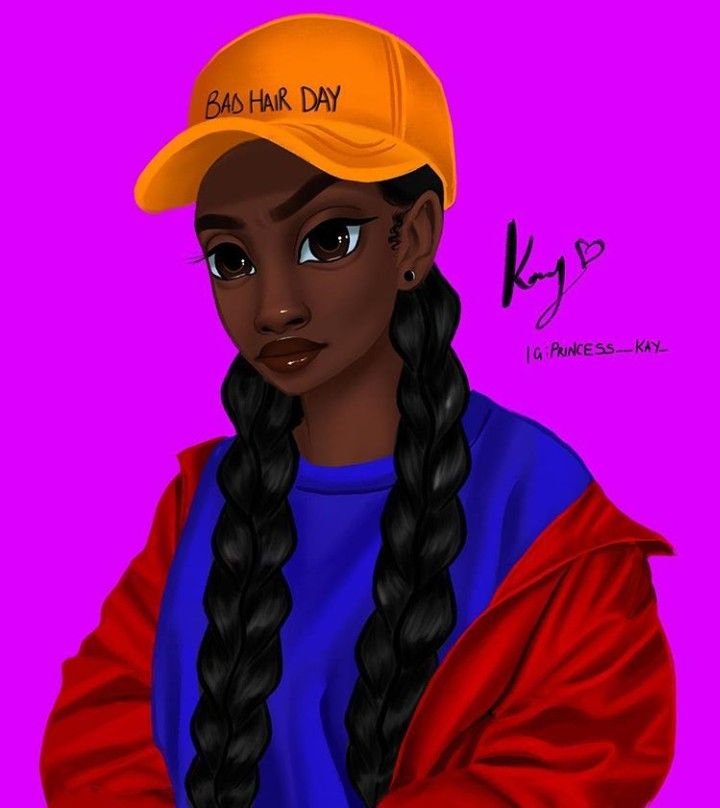 Follow @afroqueen01 To See More Melanin Art (With Images