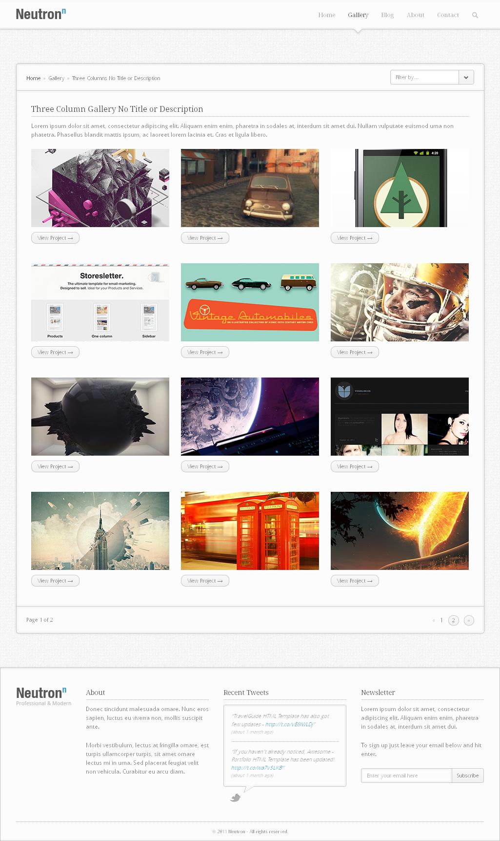 Neutron Html5 Template Neutron Template Craft Websites Ideas