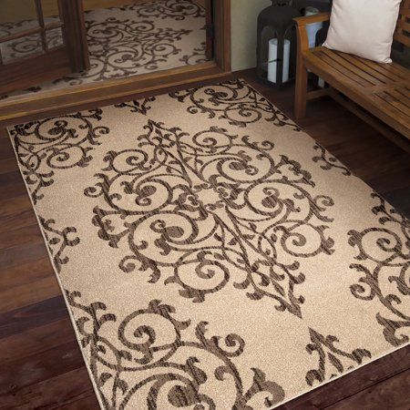 Farmhouse Manor Gate Indoor Outdoor Area Rug Size 5 2 Inch X 7 6