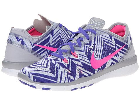 timeless design c9b35 daf85 Nike Free 5.0 TR Fit 5 PRT Wolf Grey Persian Violet White Pink