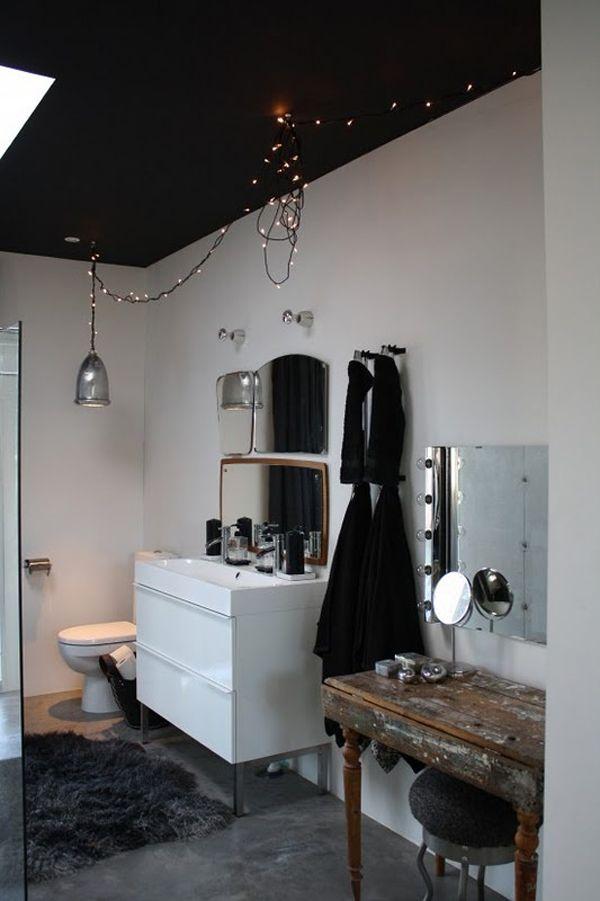 Inspirations  Osez peindre votre plafond Met, Modern and Vintage - peindre plafond salle de bain