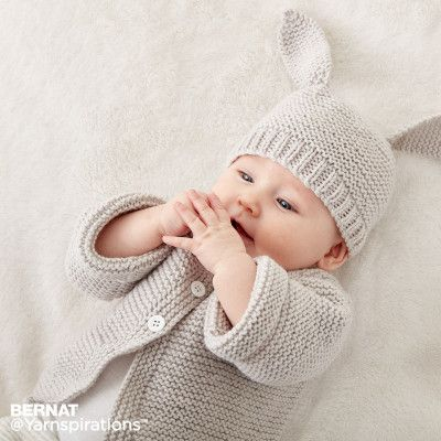 Bernat Knit Baby Jacket Set Free Pattern Knit Baby Jackets Baby Knitting Patterns Free Newborn Baby Cardigan Knitting Pattern