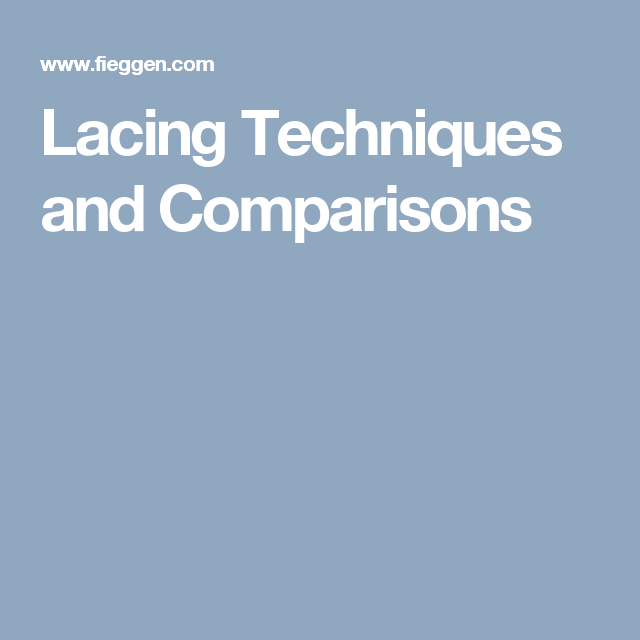 Lacing Techniques and Comparisons #running