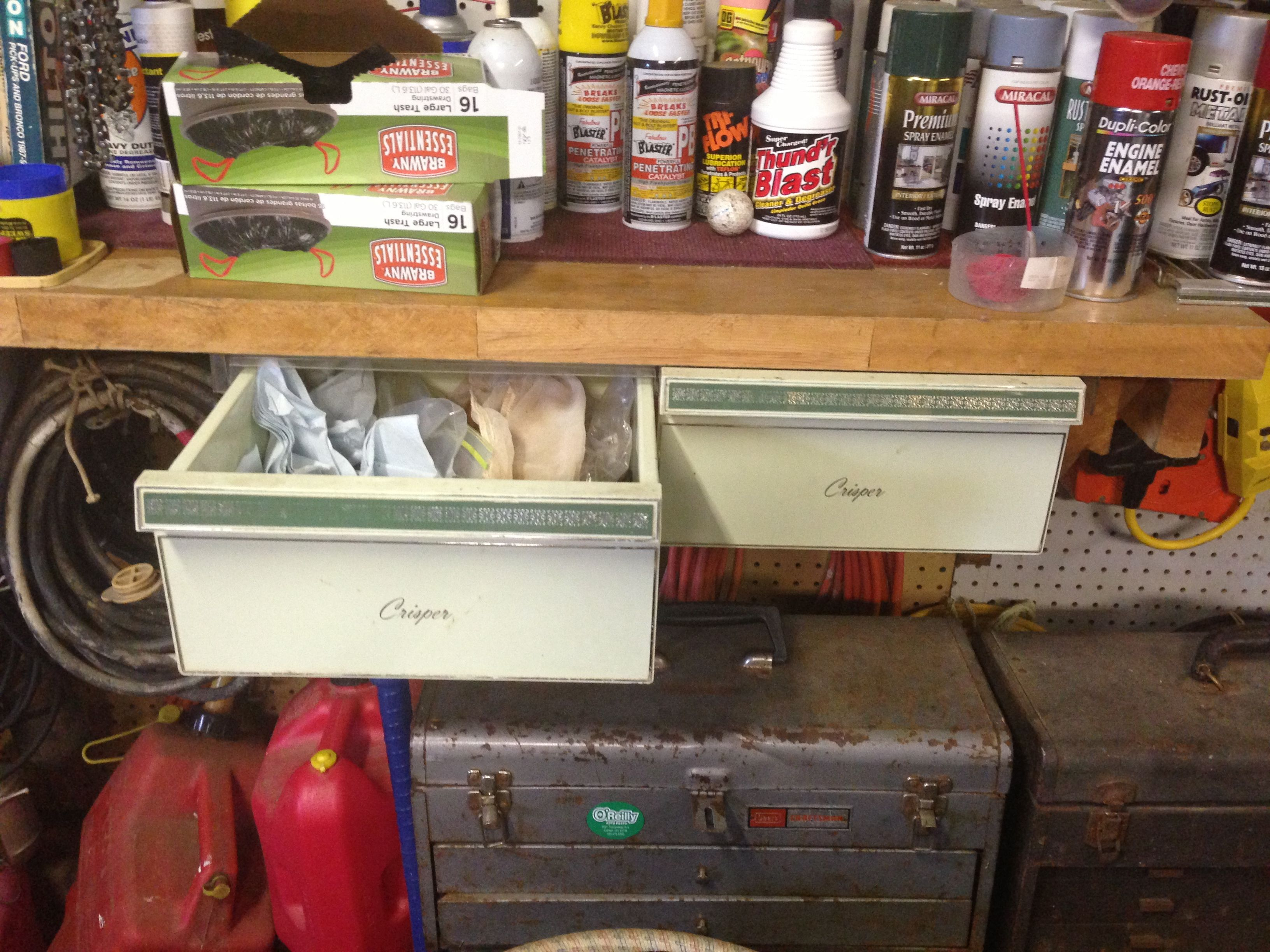 Phenomenal My Dad Repurposes Old Refrigerator Drawers For Storage In Home Interior And Landscaping Transignezvosmurscom