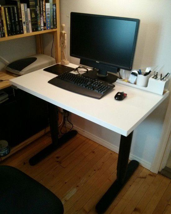 An Adjustable Width Bekant Desk Ikea Hackers Ikea Desk Ikea Desk