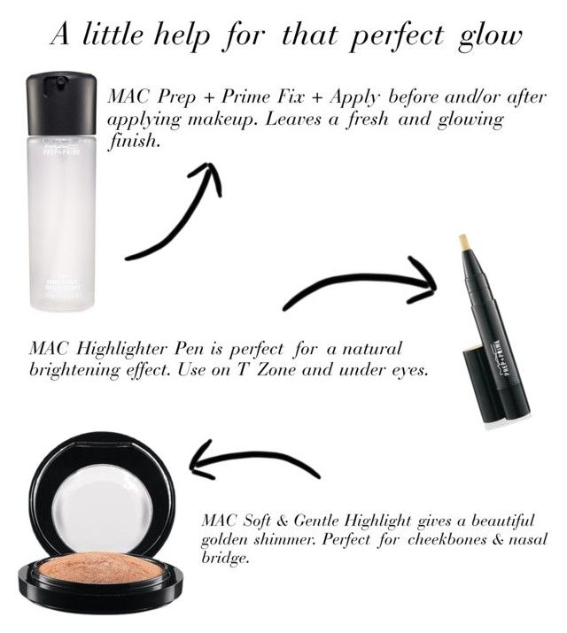 """""""A Litter help for that perfect glow"""" by vanessasmandb on Polyvore featuring beauty and MAC Cosmetics"""
