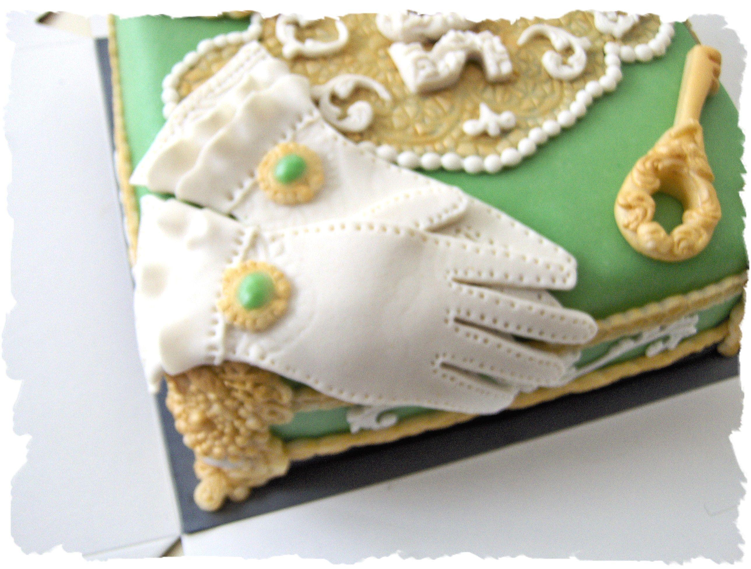 jewelry box cake gloves view