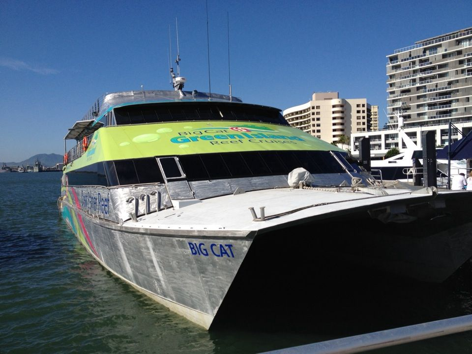 Big cat green island reef cruises in cairns qld with