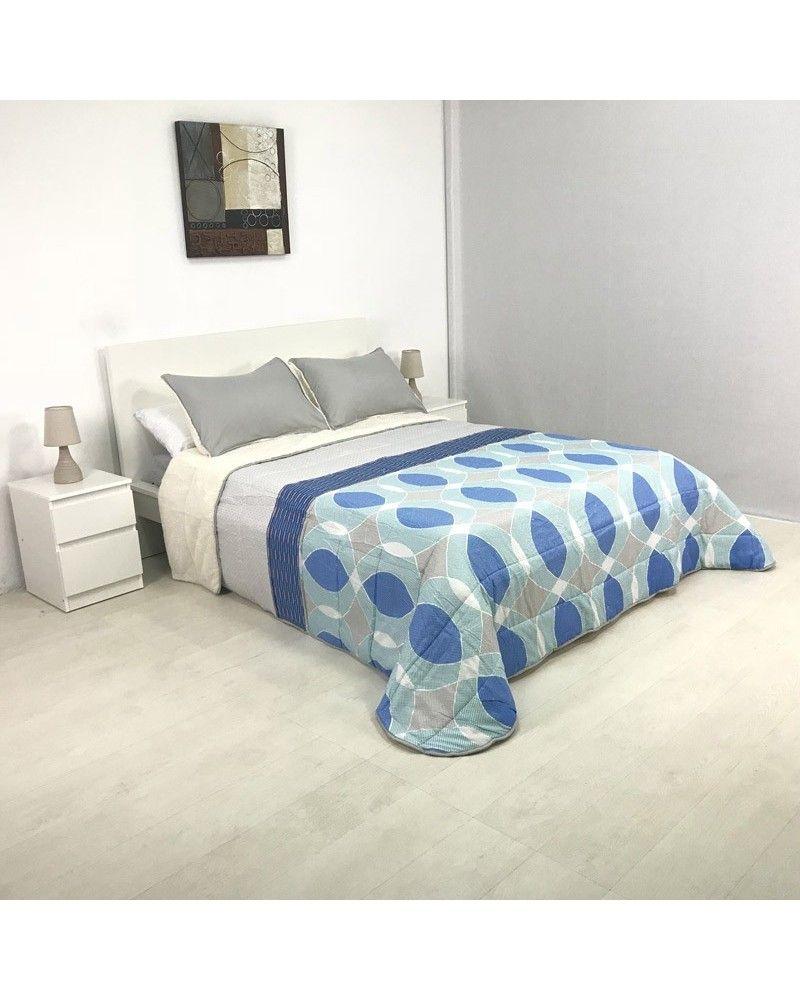 Edredon Confort Acolchado Amara Con Sherpa Azul 150 Cm In 2020 Home Decor Furniture Bed
