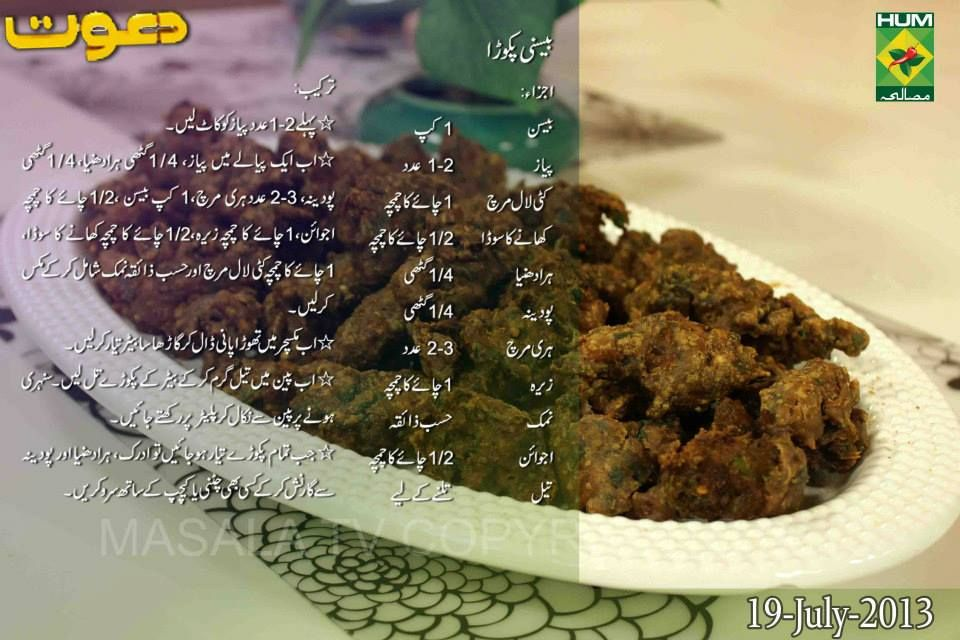 Ladiespk Basani Pakora Recipe In Urdu English By Chef Zakir Masala Tv