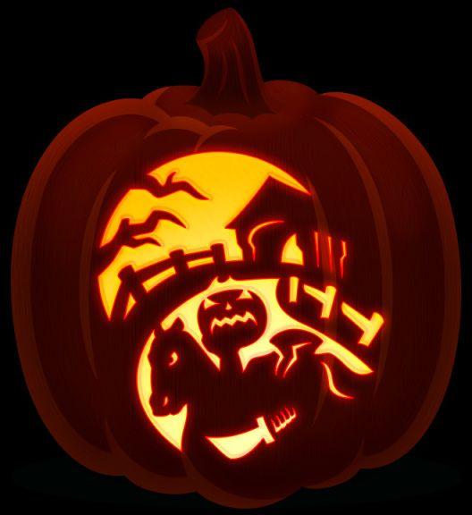 Headless Horseman Cool Pumpkin Designs Pumpkin Carving Avengers Pumpkin Carving Stencil