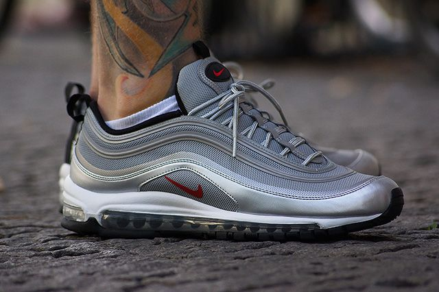 nike air max 97 navy red bianca