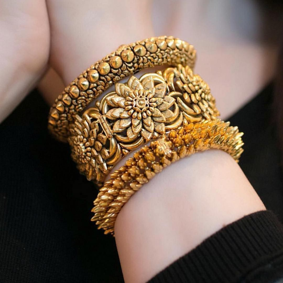 Beautiful jaipurgems gold bracelets inspired by indian temples