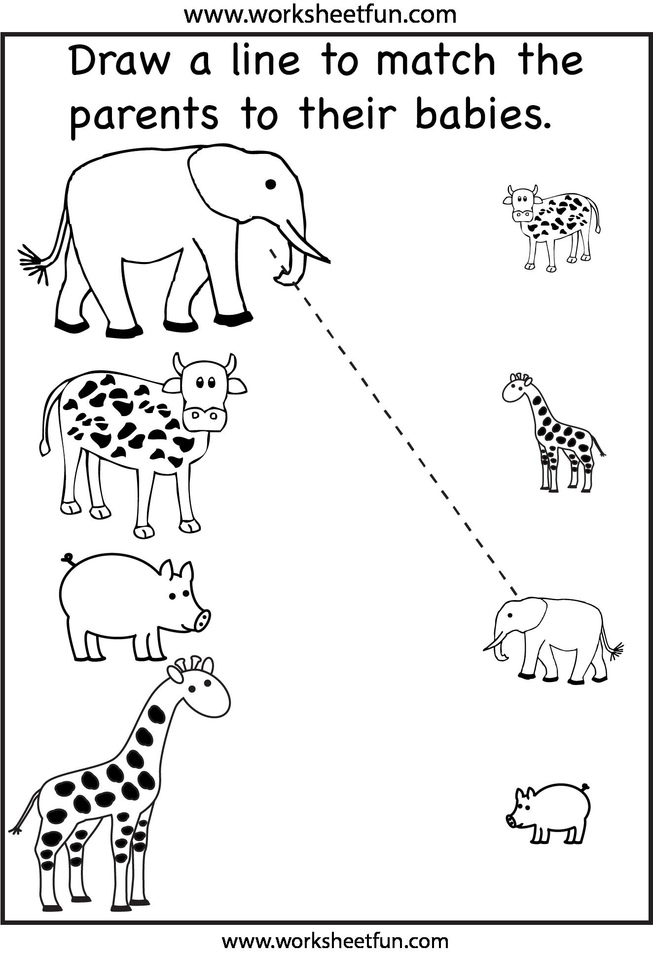 Preschool Worksheets / FREE Printable Worksheets   Free preschool worksheets [ 1933 x 1324 Pixel ]