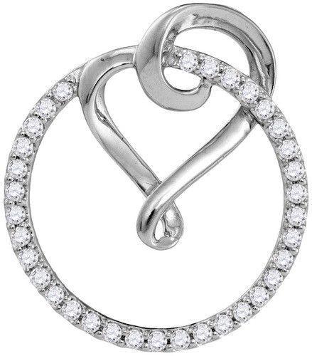 10k White Gold 0.34 ctw Diamond Fashion Pendant