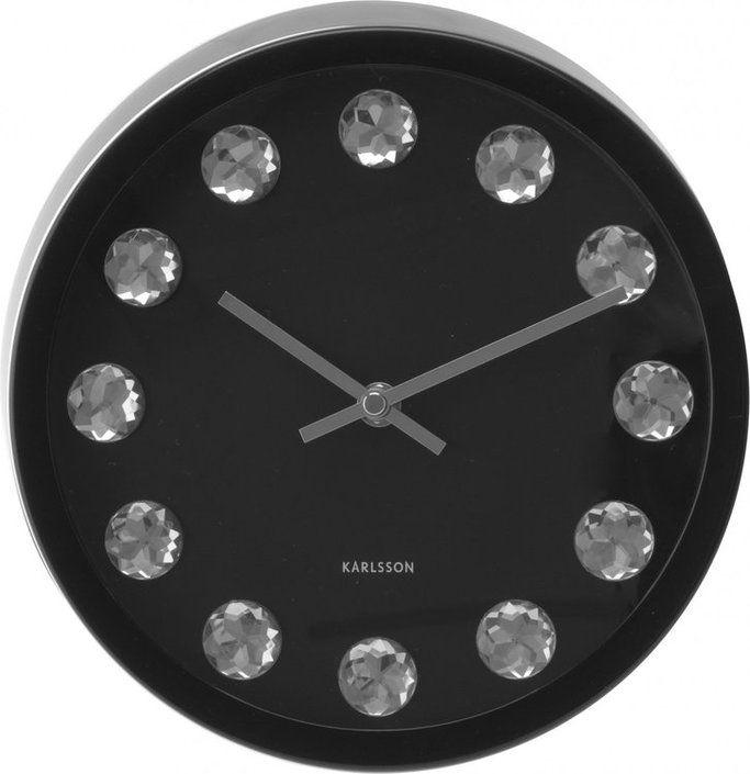 Karlsson Medium Diamond Clock Wall Clock Diamond Wall