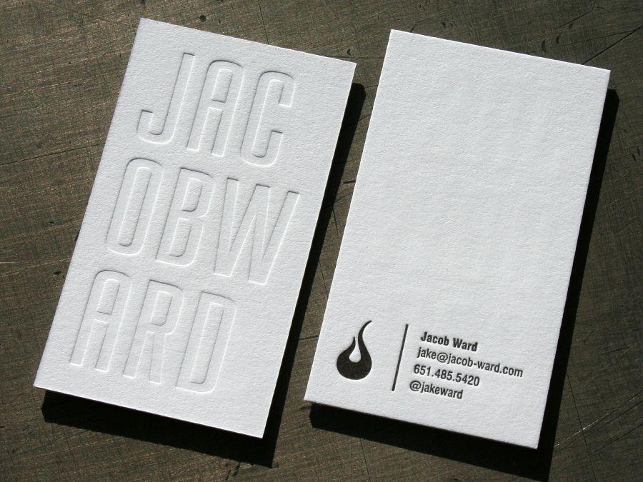 blind emboss business cards Business Cards Pinterest - letterpress business card