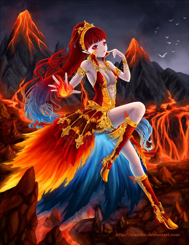 Elements Fire By Eranthe Deviantart Com On Deviantart Anime
