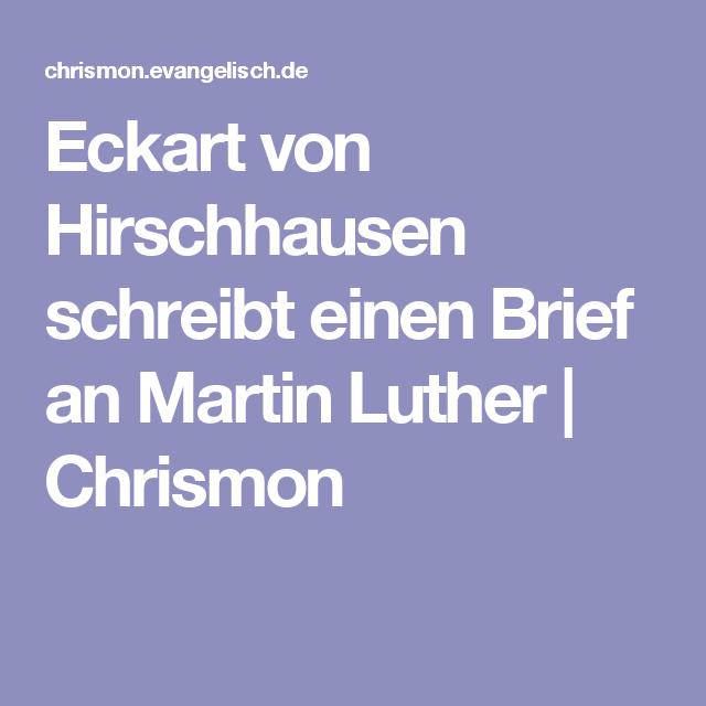 Eckart von Hirschhausen schreibt einen Brief an Martin