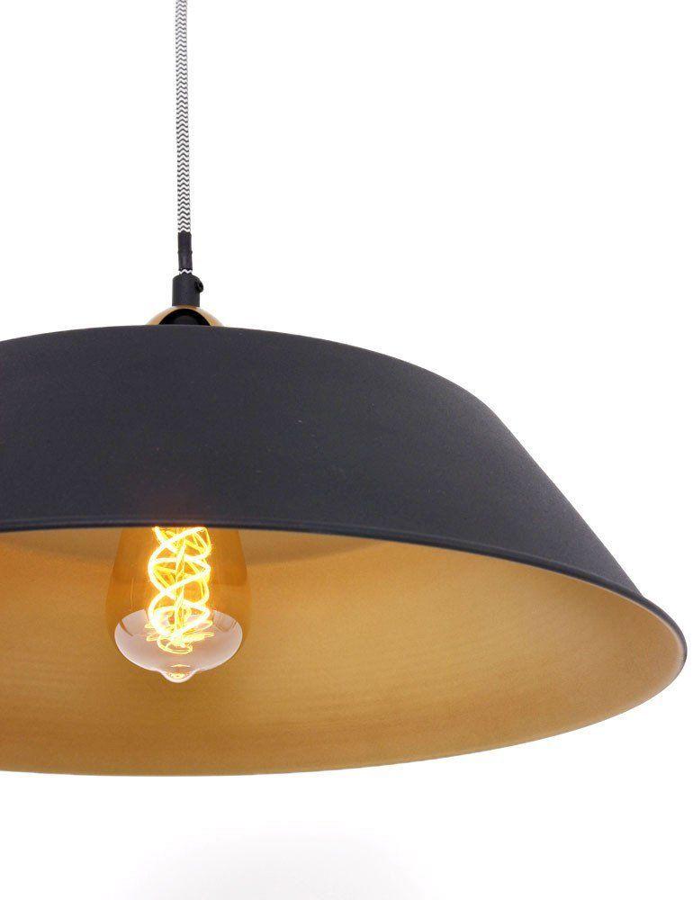 Industriële hanglamp Lumidem Nové zwart Ø42 cm - Hanglampen ...