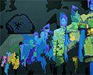 Trance, 2015, Acryl auf Leinwand/Keilrahmen. H80 x B100cm